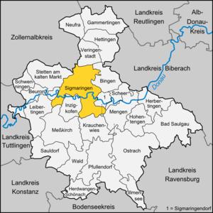 Sigmaringen - Image: Karte Sigmaringen