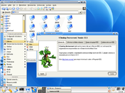 KDE 3.2 with Konqueror and the About screen.