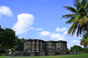 Kedareshwara Temple, Halebidu - Rear view of the Kedraeshwara temple at Halebidu