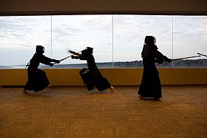 Kendo training in Tokyo, Japan.
