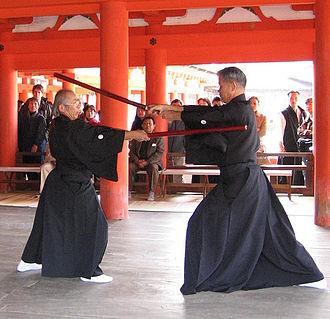 Shinkage-ryū - Image: Kenjutsu 001