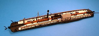 Chain boat - Model of the Bavarian chain boat, K.B.K.S. No. V