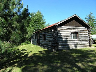 Kettle Falls Historic District - The Dam Keeper's Cabin in the Kettle Falls Historic District
