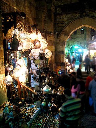 Islamic Cairo - Khan el-Khalili, a major souk in Islamic Cairo.