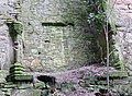 Kilbirnie Place - the Keep - The Great Hall fireplace and carvings.JPG