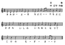 「君が代」の楽譜