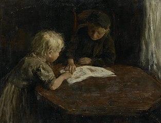 Kinderen met een prentenboek