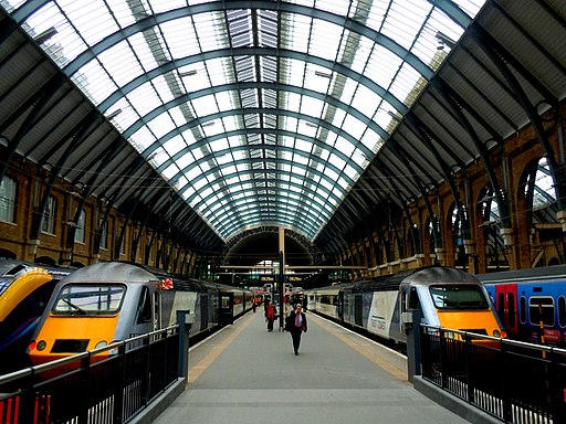 Kings Cross Train Station London England