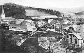 Kirchhundem - View from the Hard over Kirchhundem (about 1905)