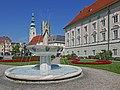 Klagenfurt Brunnenanlage Der Gesang 02.jpg