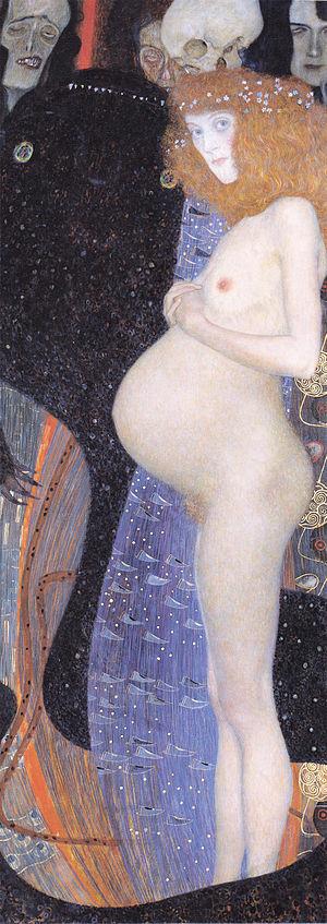 Hope I - Gustav Klimt, 1903, Hope I