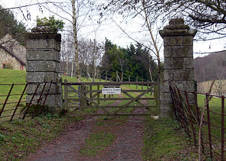 Knighton, Isle of Wight - Gateposts of Knighton Gorges Manor