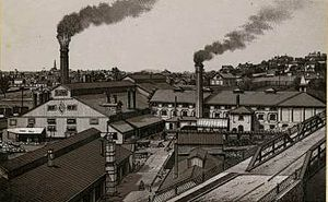 Knoxville Iron Company - The Knoxville Iron Company complex in 1889