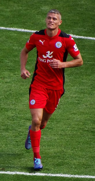Paul Konchesky - Konchesky playing for Leicester City in 2014
