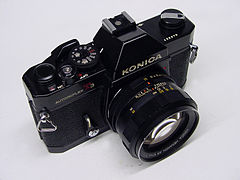 Konica Autoreflex T3N black enamel ¾ top right view.jpg
