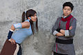 Korra and Mako cosplay at 2012 Anime Expo.jpg