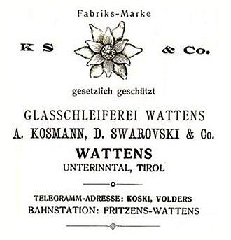 Swarovski - Image: Kosmann, D. Swarovski & Co