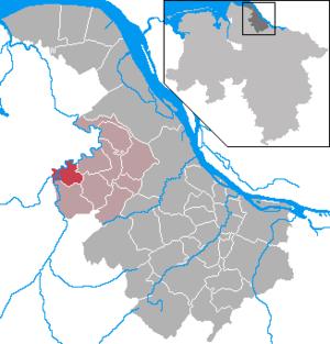 Kranenburg, Lower Saxony - Image: Kranenburg in STD