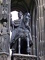 Krannerova kašna, jezdecká socha Františka I.jpg