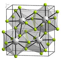 Kristallstruktur von Berkelium(III)-fluorid