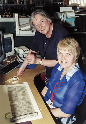 Ksenia Kepping - Ksenia Kepping (seated) of the Institute of Oriental Studies, St. Petersburg during her visit to the British Library in March 2001, with Frances Wood, Head of the Chinese Section