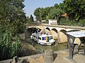 Canal del Migdia: Resclosa sobre el Libron