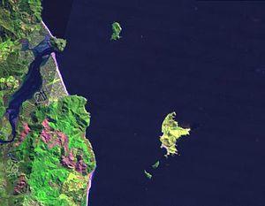 Slipper Island - LANDSAT image of Slipper Island and surroundings
