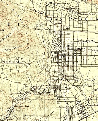 Los Angeles Terminal Railway - Route in 1894