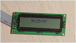Hitachi HD44780 LCD controller - Image: LCD Clock