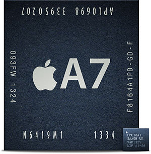 Apple motion coprocessors - Image: LPC18A1 and A7