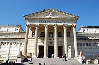 La Plata Museum - Neoclassical façade, La Plata Museum.