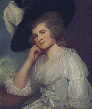 Sir William à Court, 1st Baronet - Laetitia à Court, née Wyndham (George Romney)