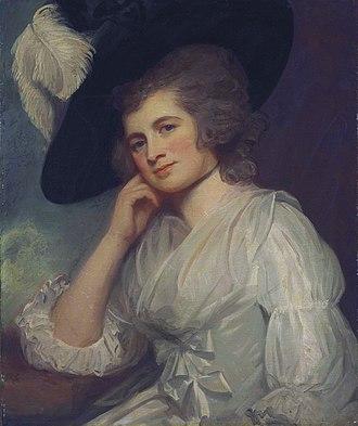 Sir William à Court, 1st Baronet - Laetitia à Court, née Wyndham (George Romney)