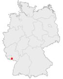 Location of Zweibrücken in Germany