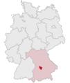 Lage des Landkreises Neuburg-Schrobenhausen in Deutschland.PNG