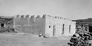 Laguna, New Mexico - Old Pueblo Council meeting house, built c.1874. 1934 photo