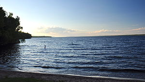 Gogebic County, Michigan - Lake Gogebic, the largest lake of the Upper Peninsula of Michigan, lies partially in Gogebic County.