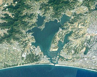 Lake Hamana - Landsat image