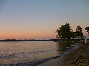 Late afternoon stroll at Lake Minnetonka, the ...