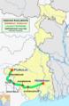 Lalmati Express (Howrah - Purulia) Via Tatanagar Route map.png