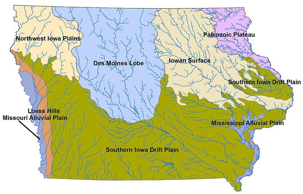 Landforms of Iowa