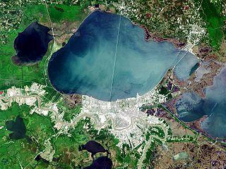 Lake Pontchartrain estuary located in southeastern Louisiana, United States