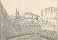 Landscape with a Curved Wall, Round Tower and Distant Villa (Smaller Italian Sketchbook, leaf 8 recto) MET DP269416.jpg