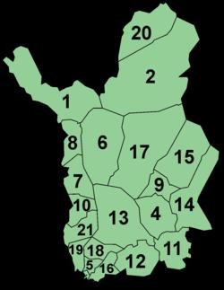 Komunumoj de la Laponia provinco