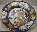 Large dish with eagles and pheasant design, Japan, Arita, Edo period, 1700s to 1740s AD, enamelled Imari ware - Matsuoka Museum of Art - Tokyo, Japan - DSC07326.JPG