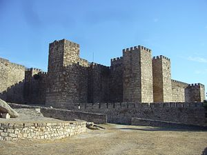 Fernando Rodríguez de Castro - Castle at Trujillo, which Fernando conquered from Portugal and made the centre of his lordship