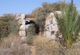 Latrun - Remains of the Crusader castle at Latrun.
