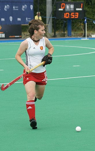 Laura Unsworth - Unsworth at the 2010 Champions Trophy
