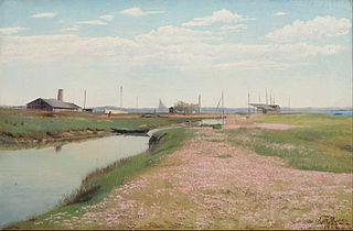 The river and harbour at Frederiksværk