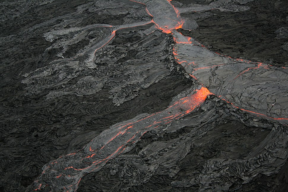 Lava channel overflow